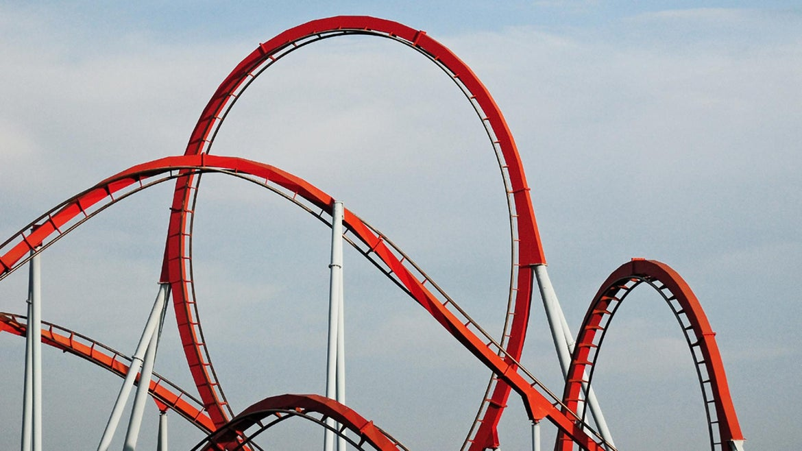 A generic stock photo of a roller coaster.