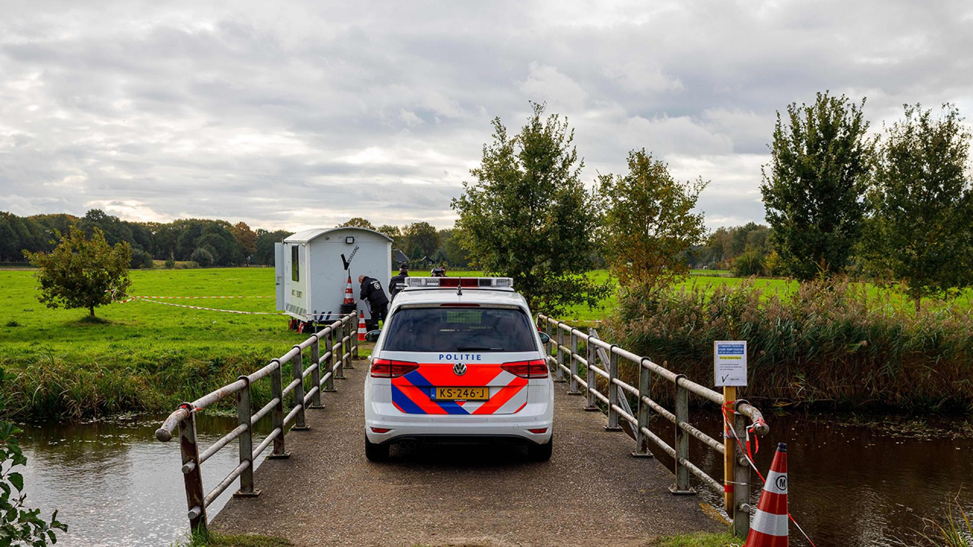 Scientific investigators work in the farm on the Buitenhuizerweg in Ruinerwold on October 18, 2019 during ongoing police searches.