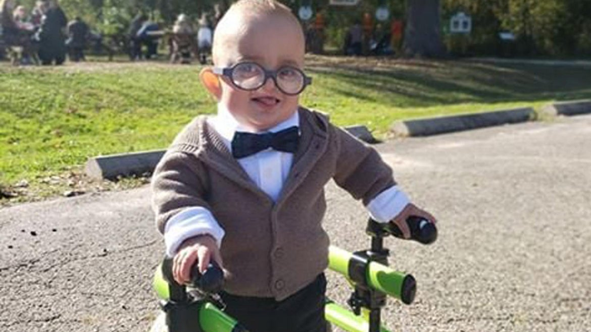 Brantley was dressing for Halloween for the first time.