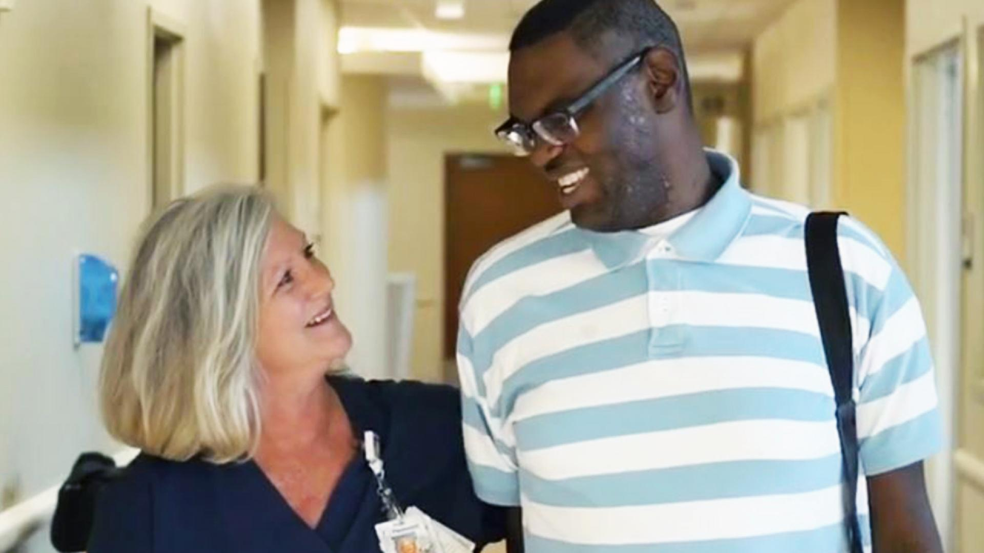 Lori Wood, a nurse at the hospital, became the legal guardian to Jonathan Pickard, who needed someone to take care of him in order to get his transplant.