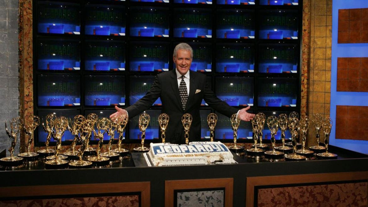 """Alex Trebek was the long-time host of TV's """"Jeopardy!"""" game show."""