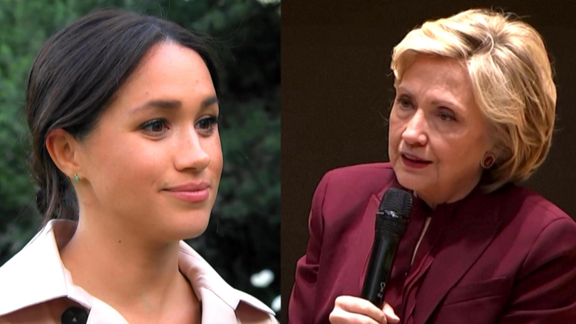 Former First Lady Hillary Clinton Visits Meghan Markle at Frogmore Cottage