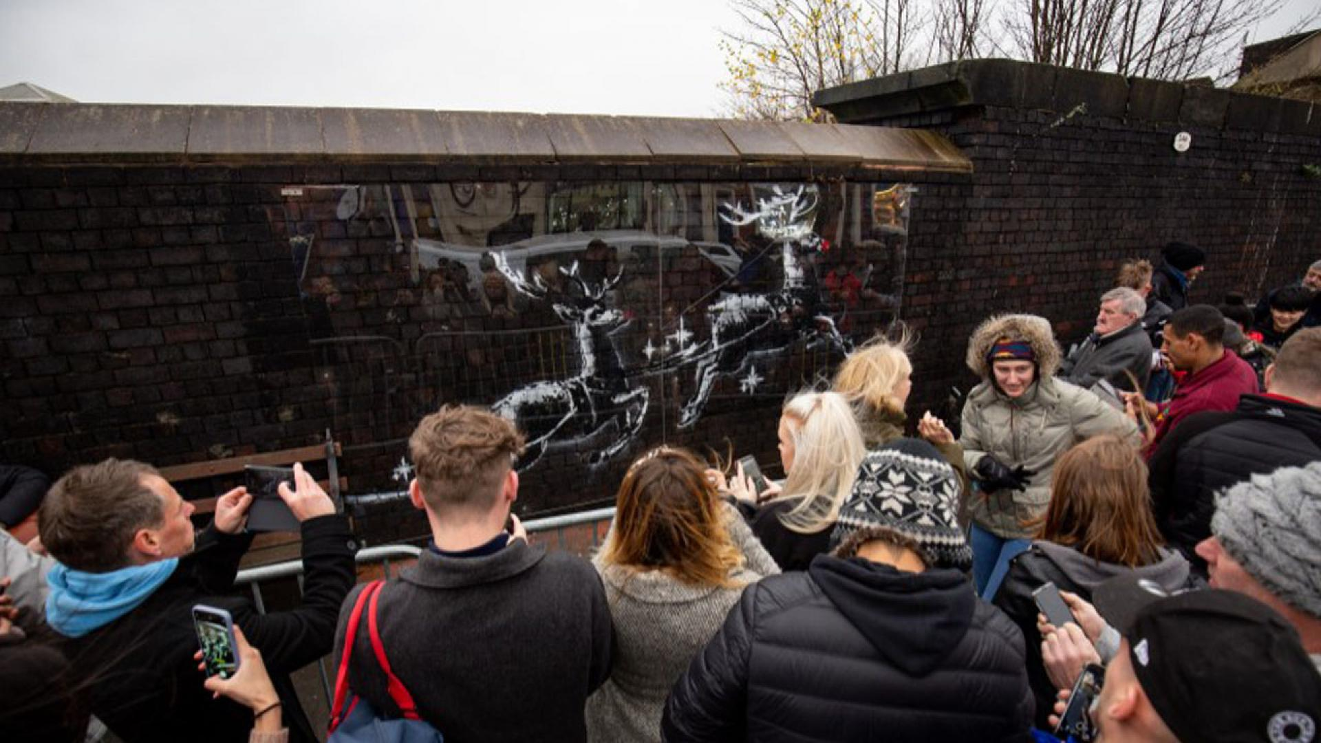 New Banksy mural defaced twice within hours of being discovered.