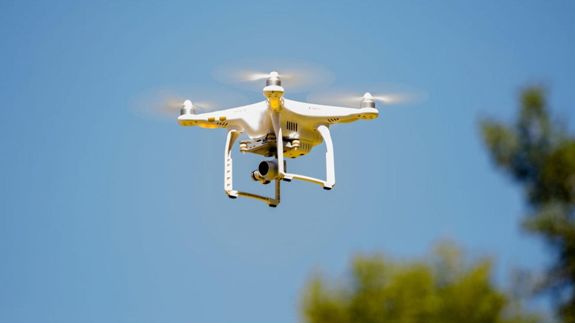 Authorities aren't sure who is responsible for the drones.