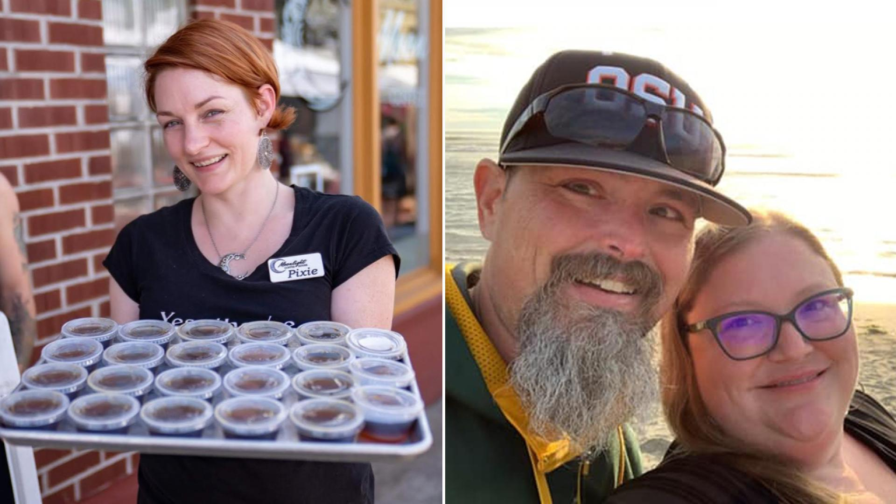 Left: Pixie Adams (Monroe Photography), Right: Tina and Dave McAdams