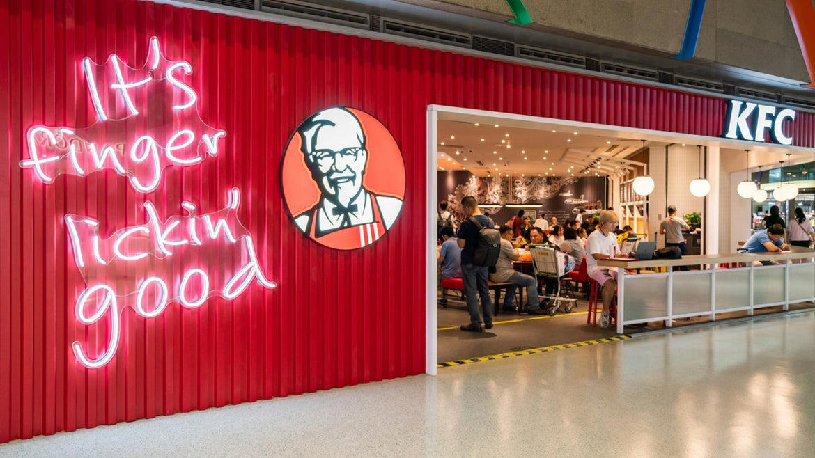 There are 23,000 KFC restaurants in 140 countries.
