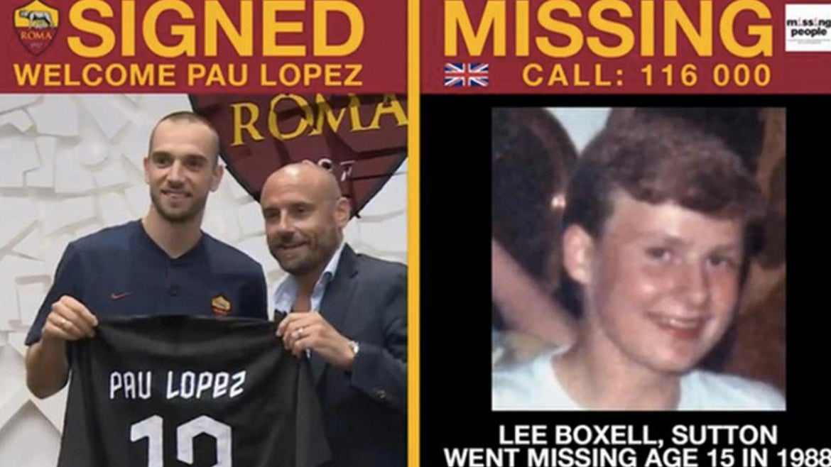AS Roma have teamed up with charities around the globe to bring attention to missing children as they announce new players who sign to the club.