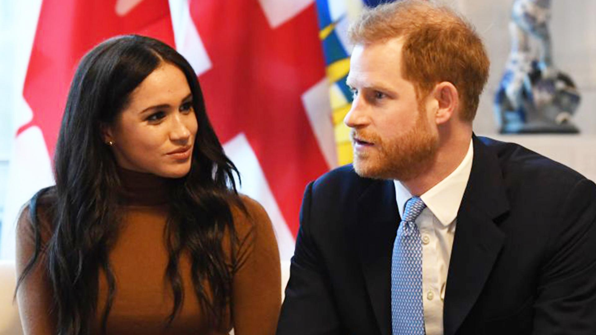 Meghan Markle and Harry appear at a previous engagement.