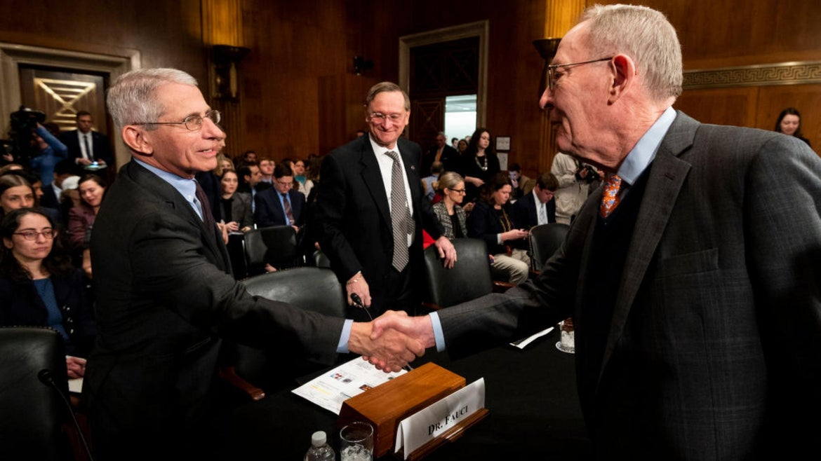 Dr. Anthony Fauci says we should stop shaking hands.