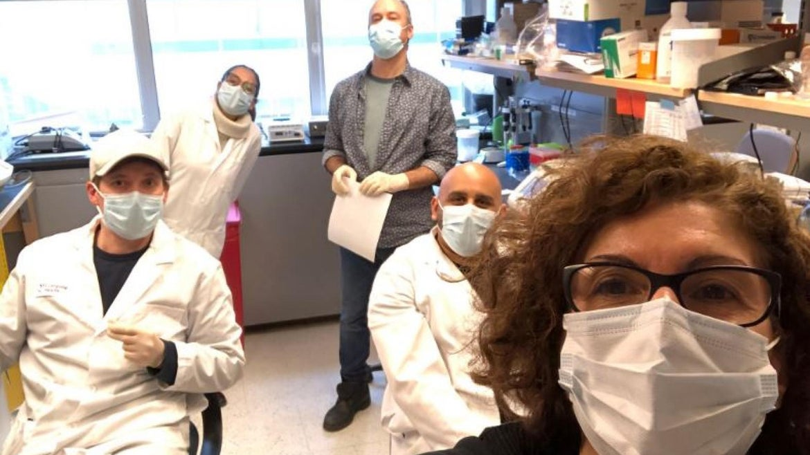 Dr. Adriana Heguy and her team at New York Langone Health's Genome Technology Center.
