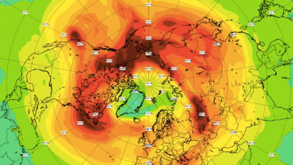 CAMS said on Twitter that the dangerous hole closed due to the polar vortex split, allowing ozone-rich air into the Arctic.