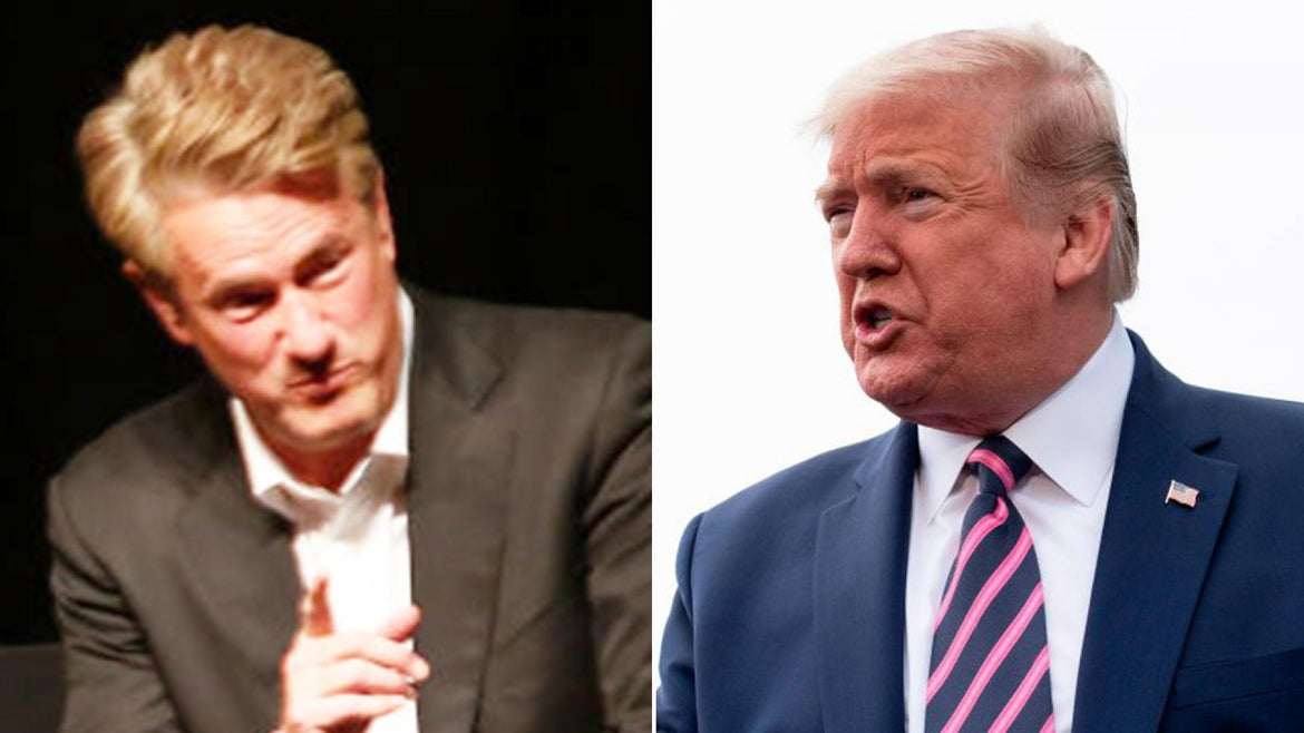 MSNBC's Joe Scarborough responded after President Donald Trump resurfaced a conspiracy theory on Twitter.