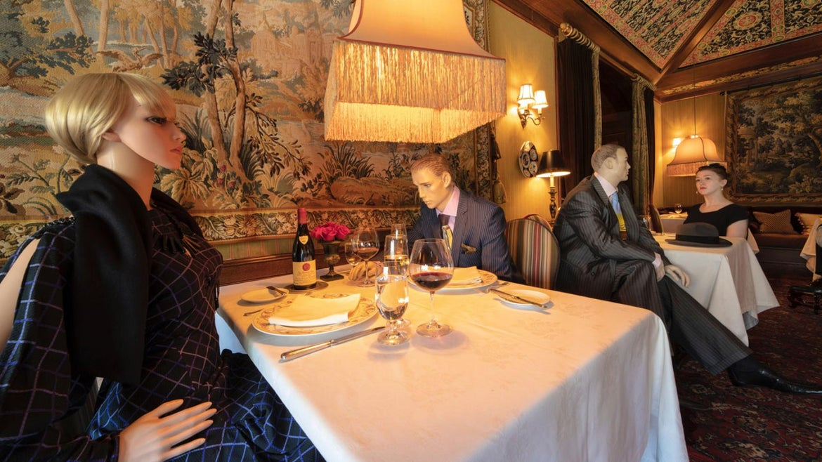 The Inn at Little Washington has found a creative way to pack the restaurant without going over 50% capacity: mannequins.