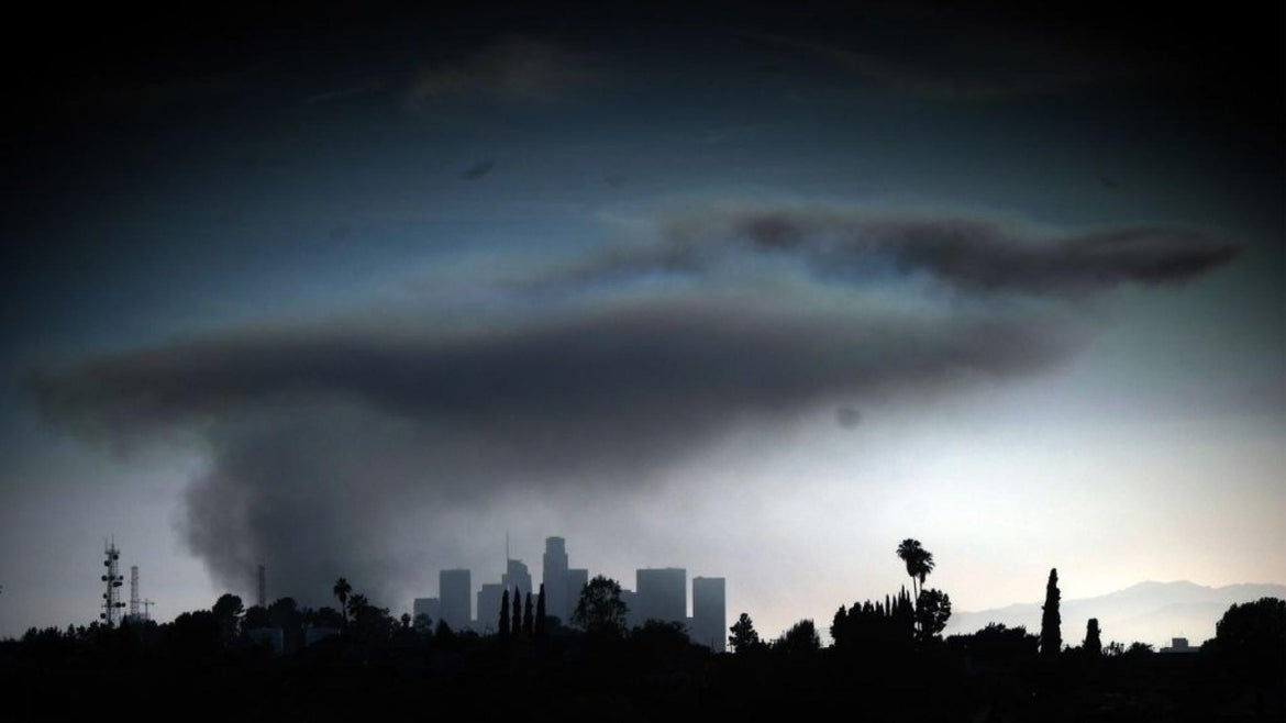 Smoke from massive L.A. explosion could be seen for miles.