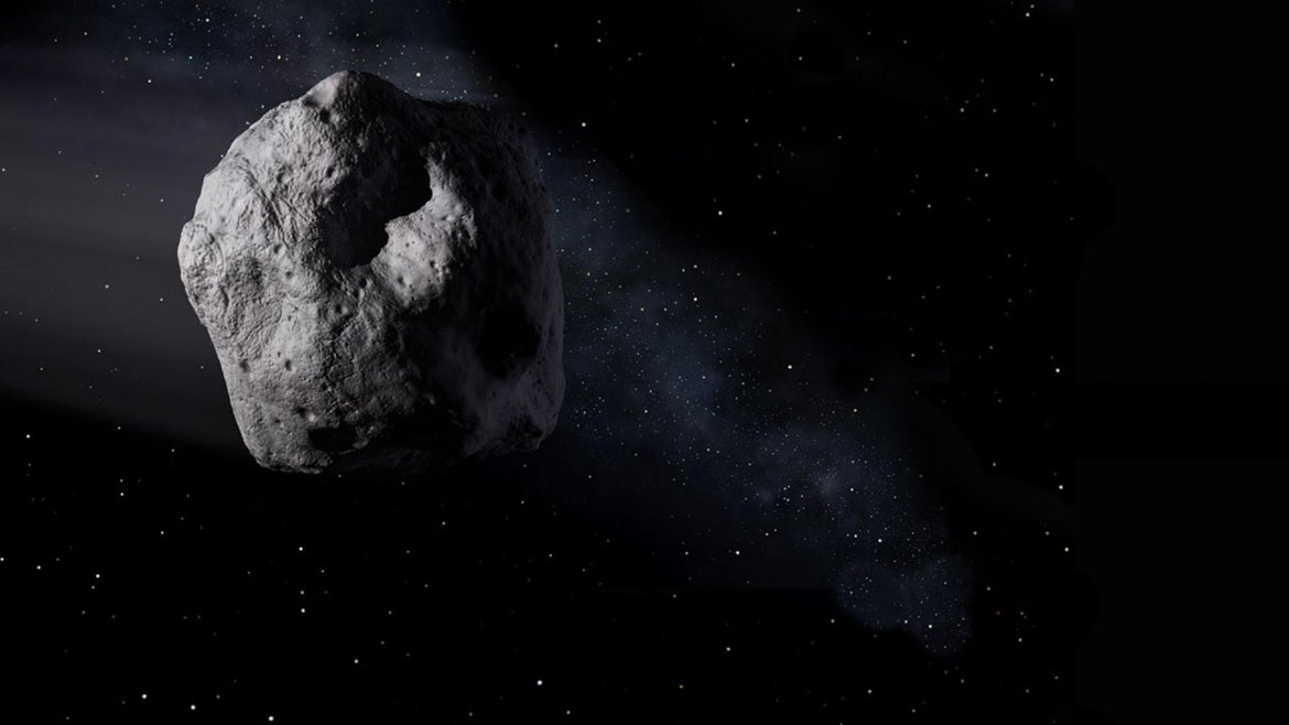 An asteroid is seen in this NASA file photo.