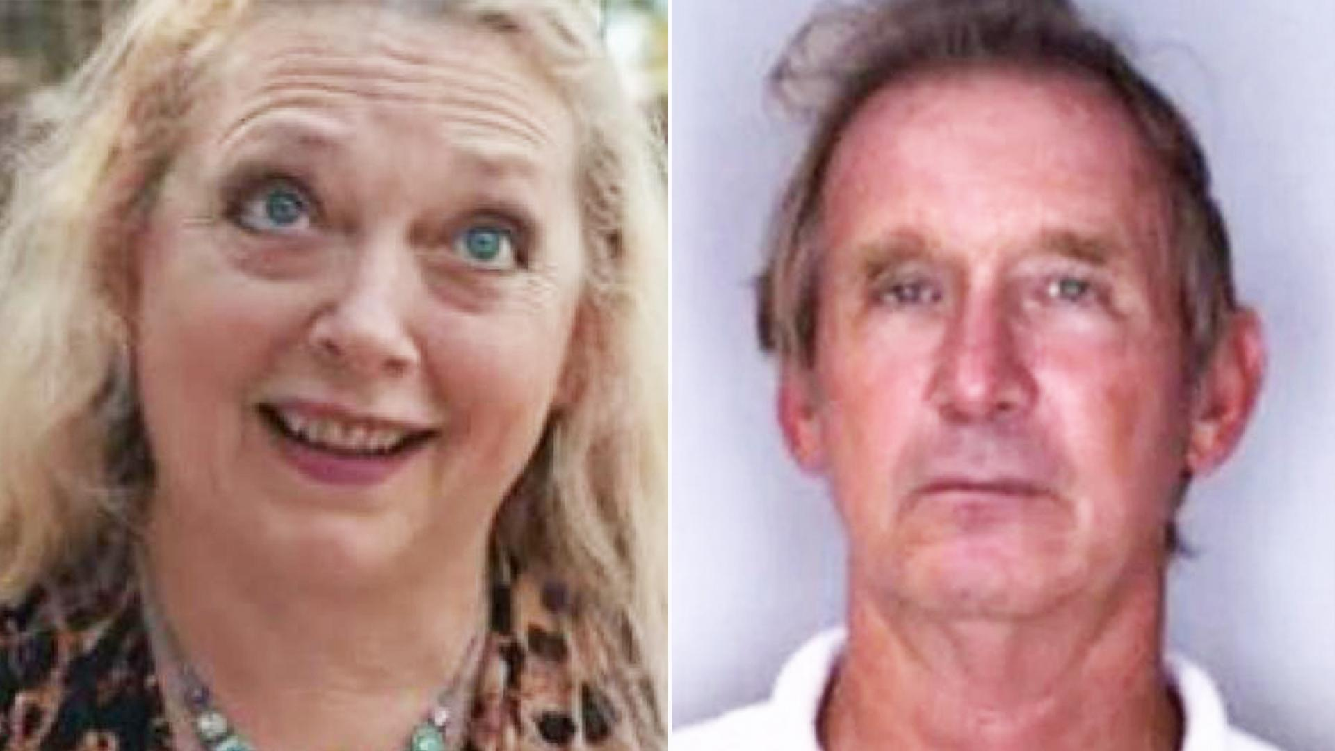 Carole Baskin, left, has previously denied any involvement with the disappearence of her millionaire second husband, Don Lewis, right.