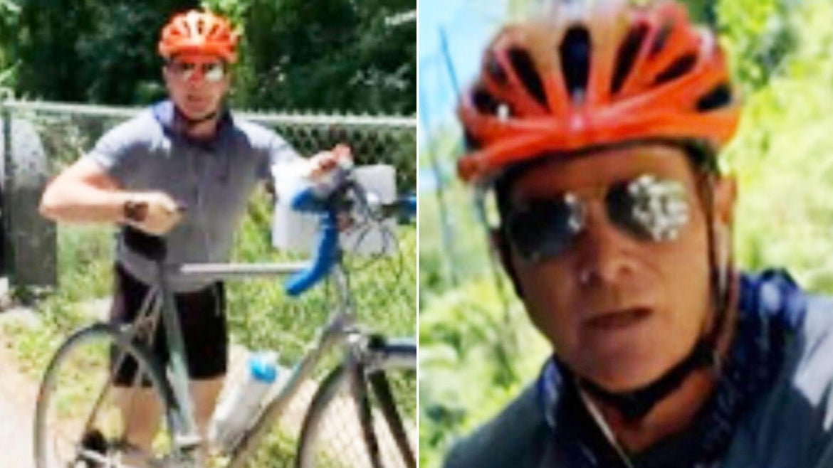 Maryland authorities are seeking this bicyclist that was caught on camera harassing a group of teen activists.