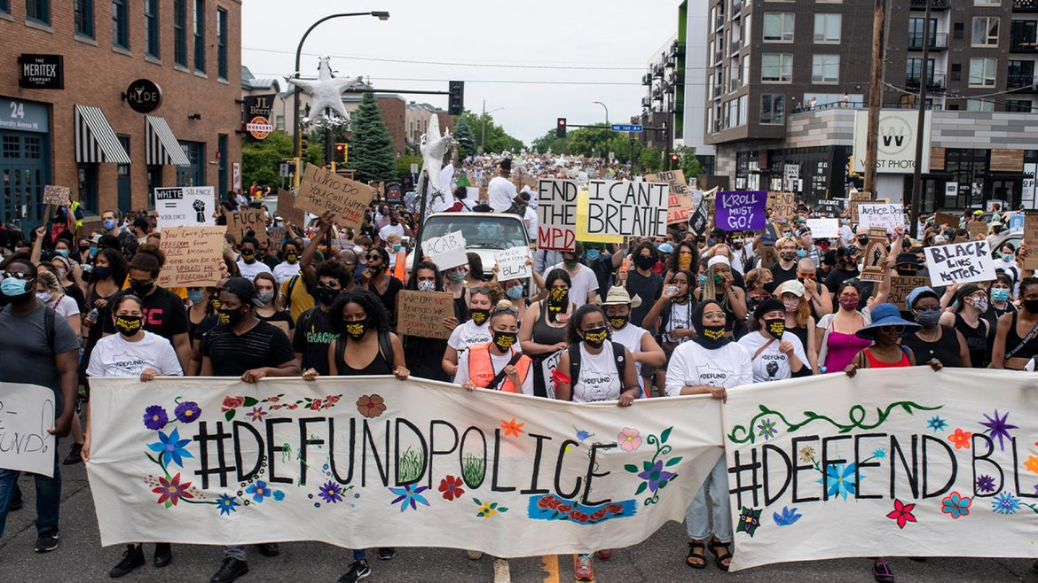 Demonstrators call to defund the Minneapolis Police Department