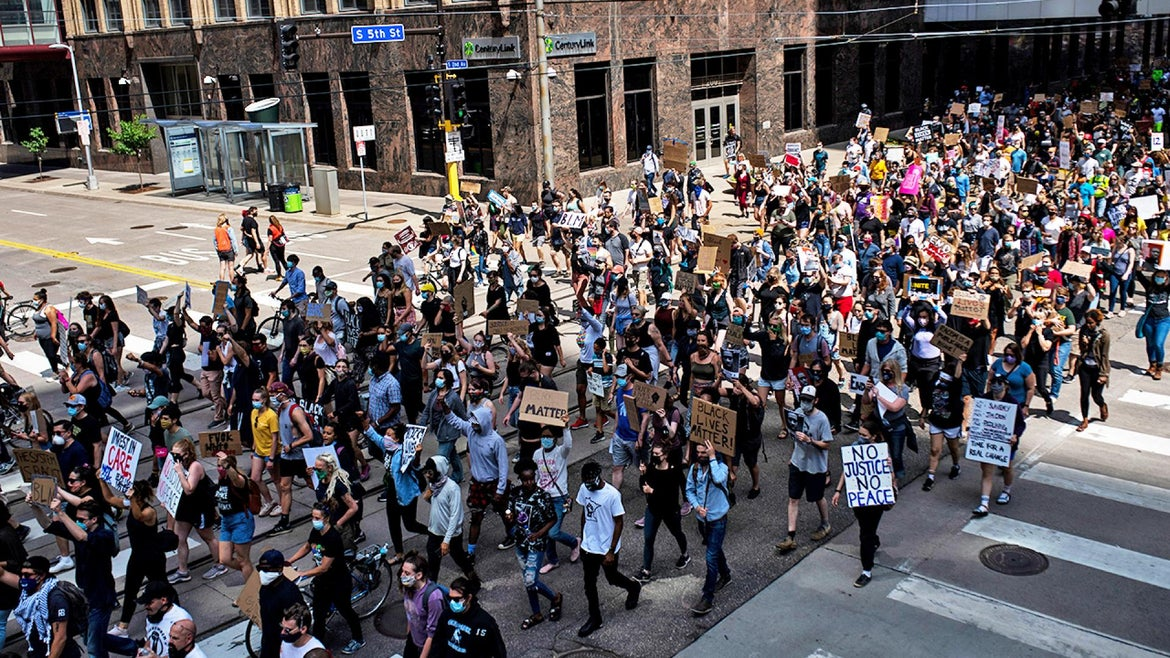 Demonstrations against police brutality continue.