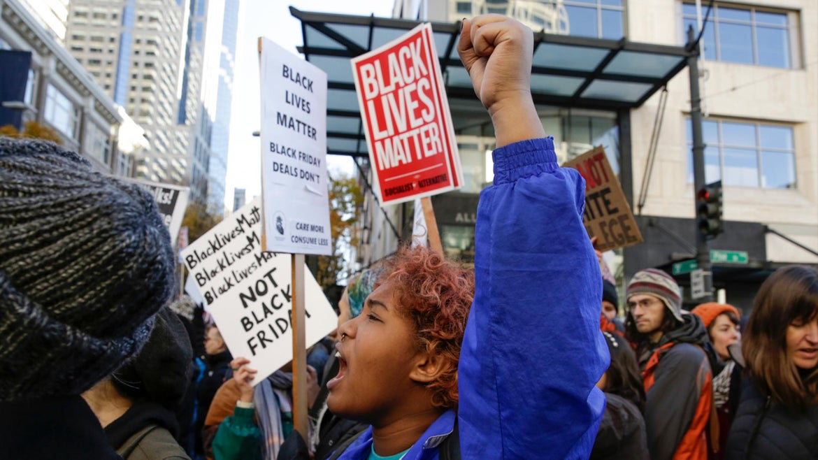 Protesters call for justice in Seattle, Washington.