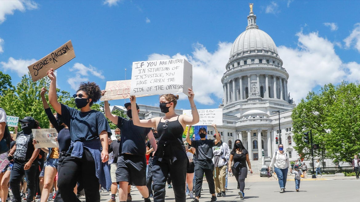 Madison, Wisconsin, like many other cities around the country, continue Black Lives Matter demonstations.