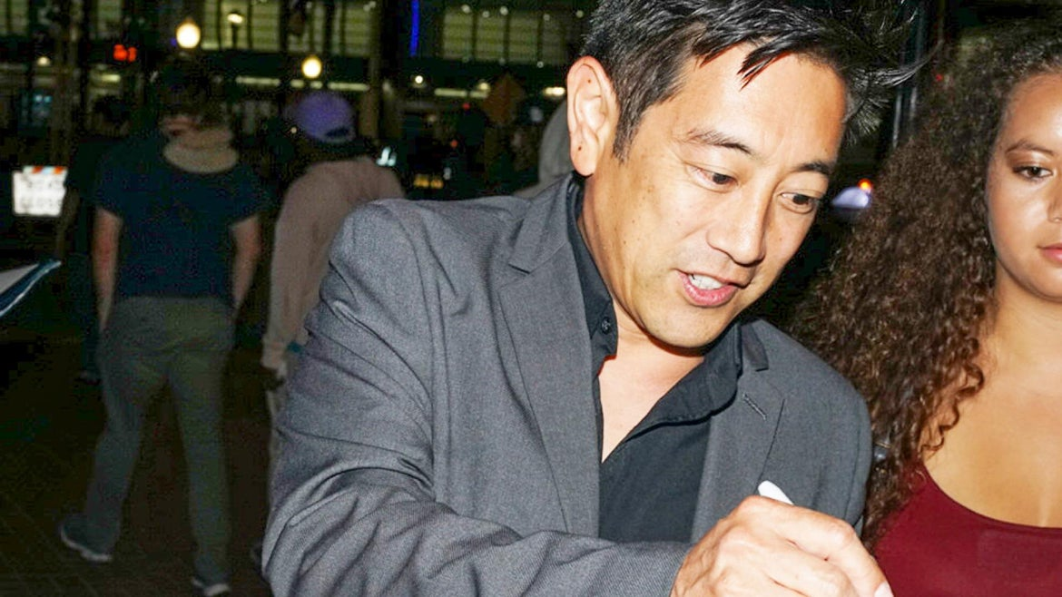 Grant Imahara was photographed in 2019 meeting with fans after Comic-Con.