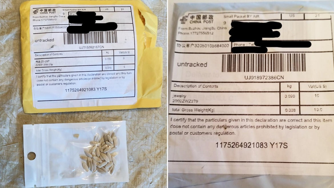 The Maryland Department of Agriculture tweeted out packages residents from their state received.