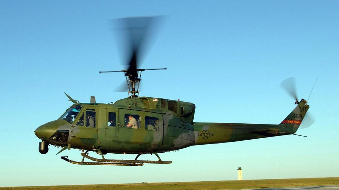 A U.S. Air Force helicopter was shot at while flying over Virginia.