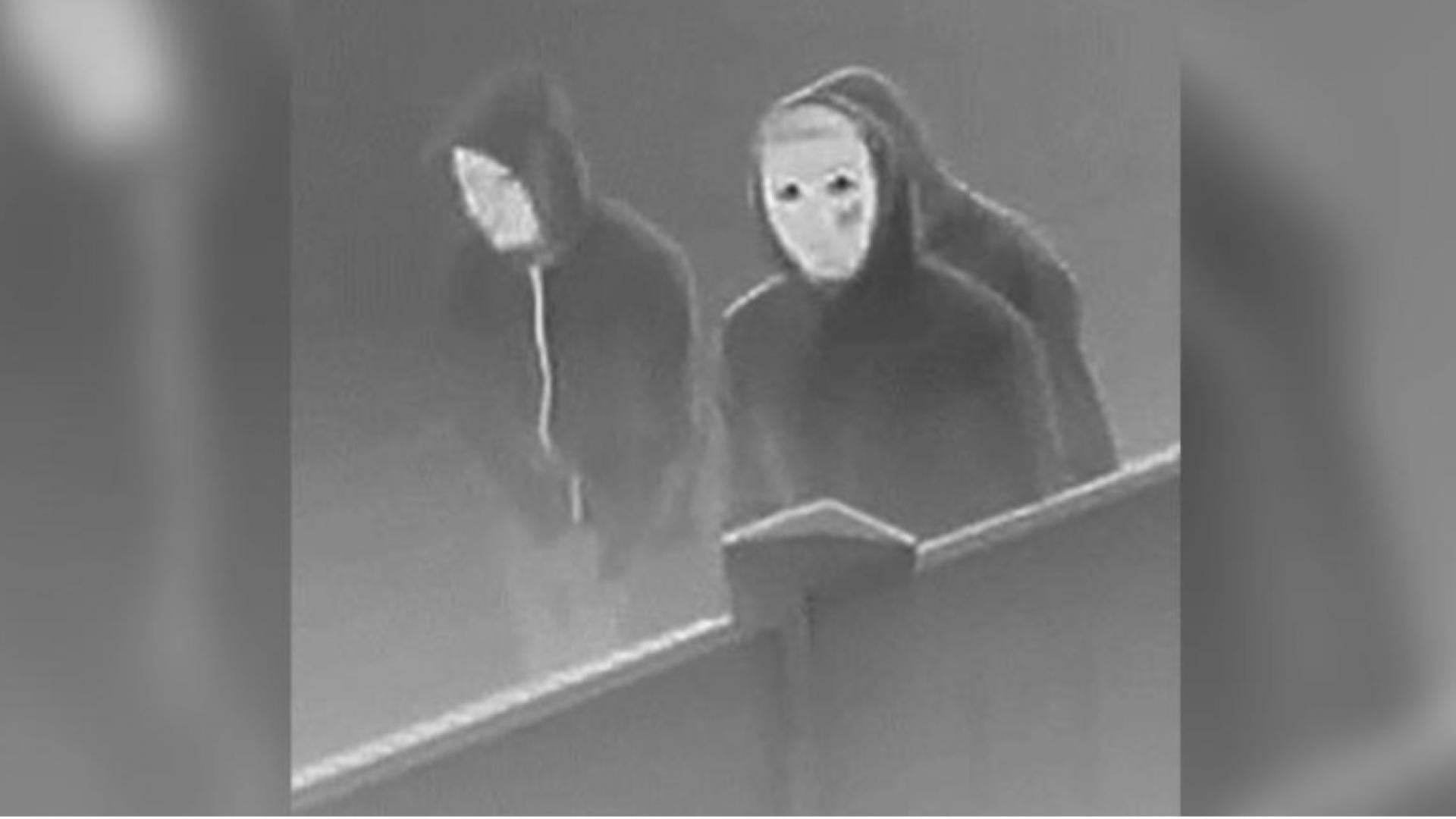 Denver police released a grainy surveillance photo of three arson suspects.