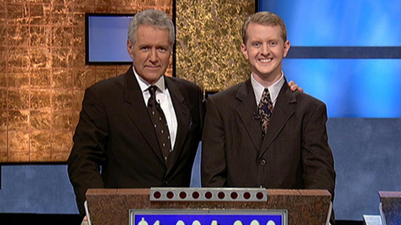 Alex Trebek and Ken Jennings.