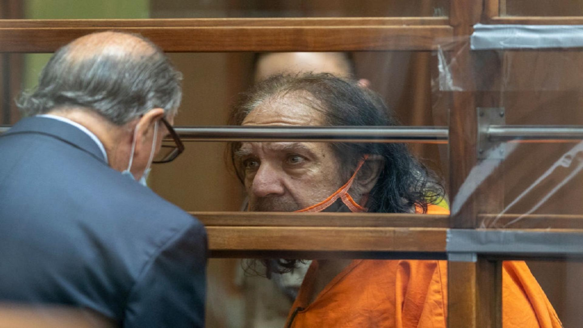 Porn star Ron Jeremy at a Los Angeles criminal court hearing.
