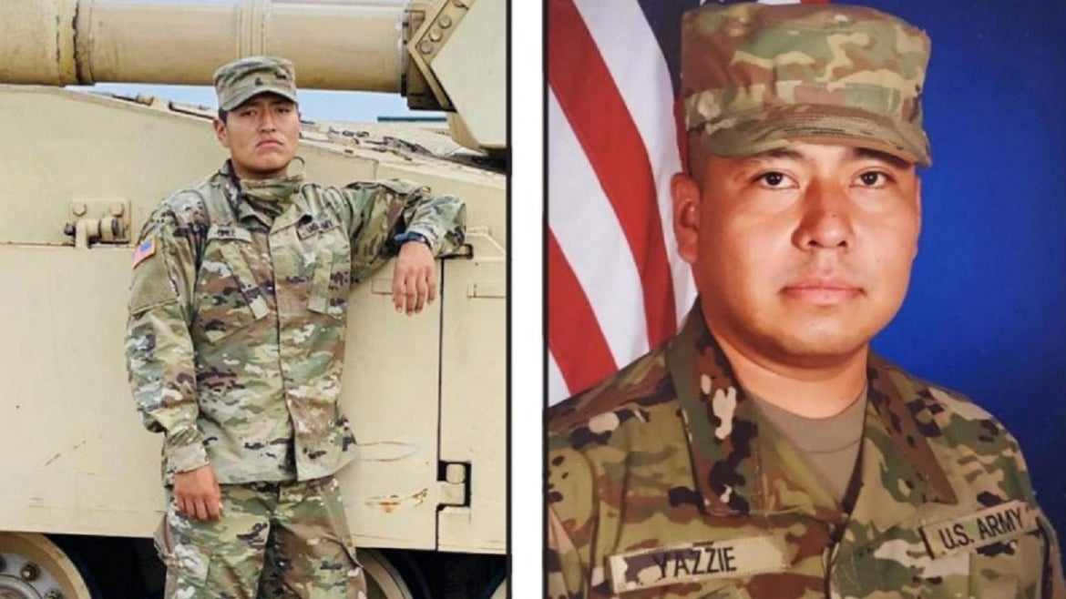Navajo Nation calls for investigation of two soldiers at Fort Hood.