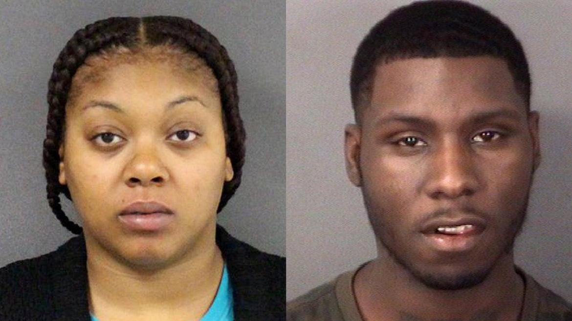"""Dajuan """"Bando"""" Kelley, 26, of Ewing Township and Destanie Ellis, 29, of Morrisville, Pennsylvania have both been charged with two counts of first-degree murder,"""