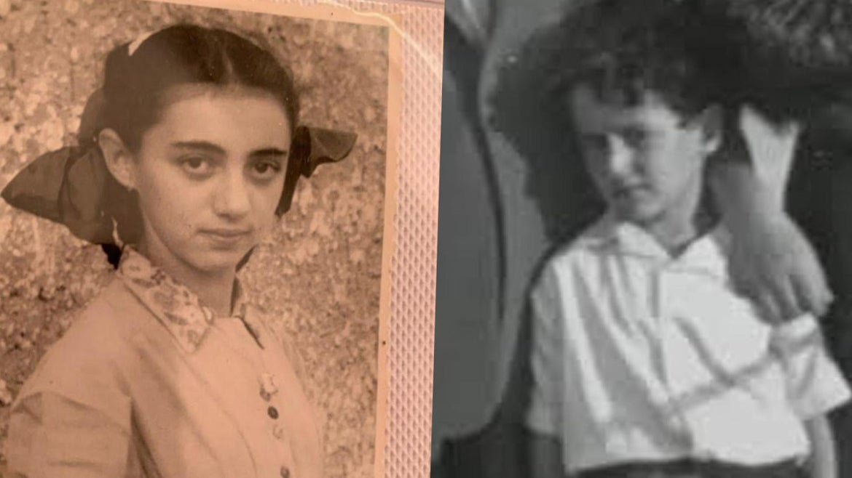 """Ruth Brandspiegel, 10 and Israel """"Sasha"""" Eisenberg, 6"""