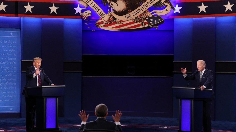 Trump and Biden at first debate