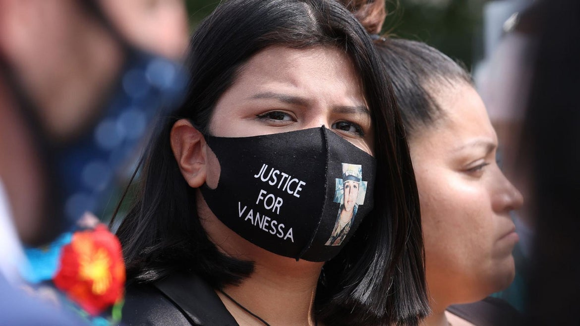 Lupe Guillen, sister of 20-year-old murder victim U.S. Army Private First Class Vanessa Guillen