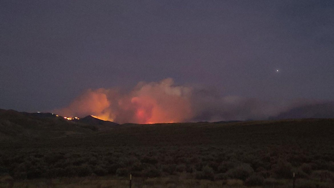 The East Troublesome Fires Burn in Colorado