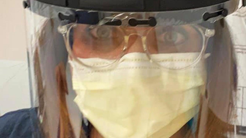 Emergency room nurse Jodi Doering in full PPE.