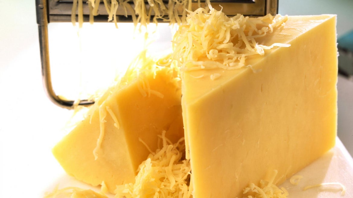 The wholesale price of Cheddar fell 40% this month.