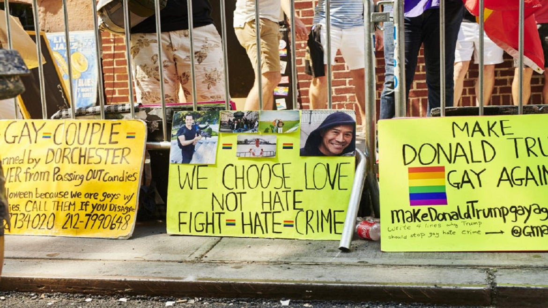 World Pride demonstration against hate crimes in New York City.