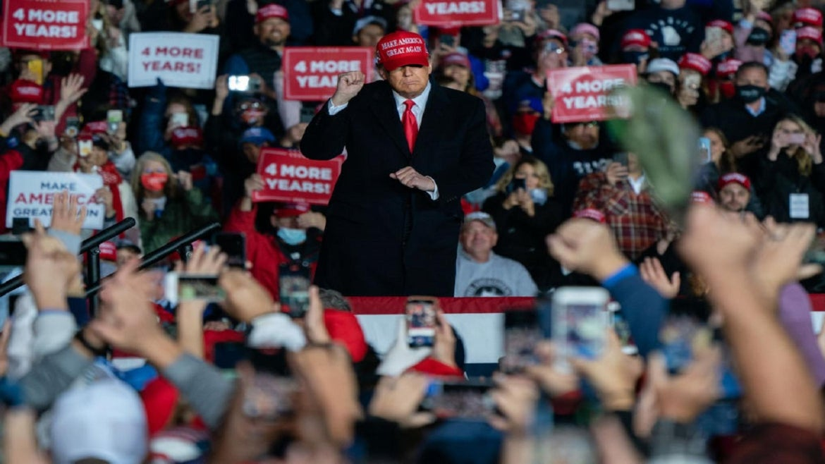 President Trump holds campaign rally Sunday.