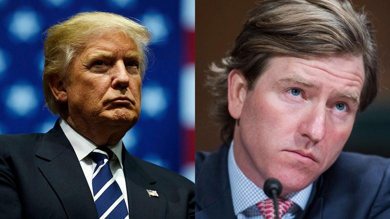 President Trump (left) and Christopher Krebs (right)