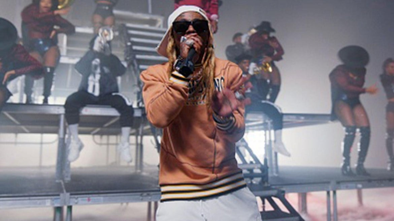 Lil' Wayne performing at the BET 2020 Awards