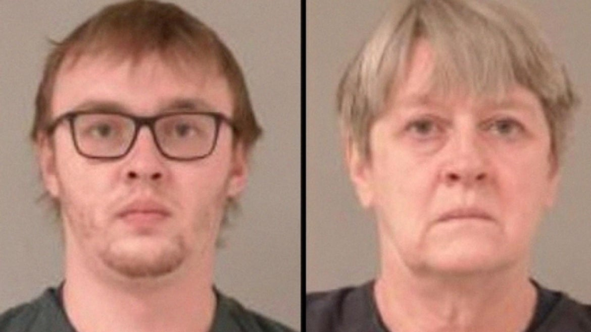 Austin James Herbst (left) and his mother, Connie Lou Herbst (right)