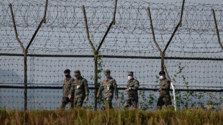 South Korean troops patrol the Demilitarized Zone (DMZ).