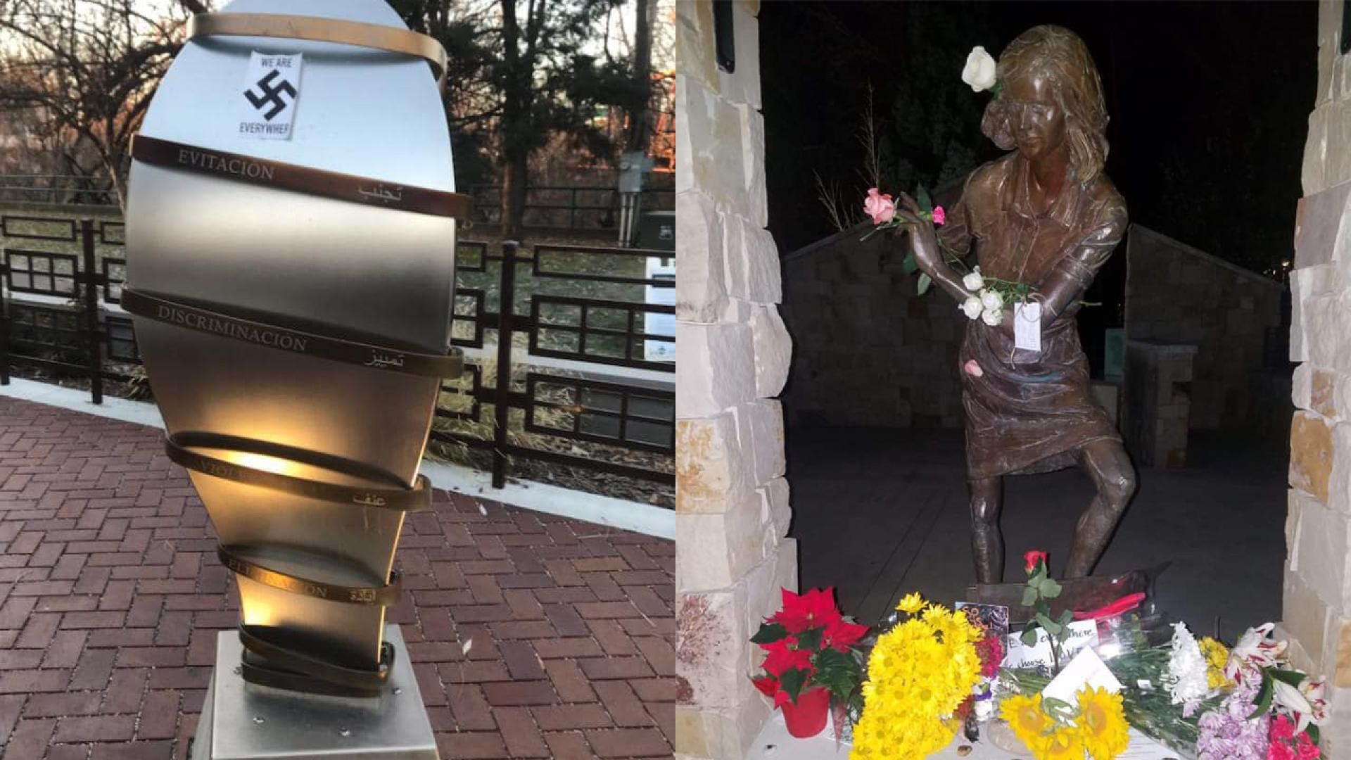 Anne Frank memorial at Wassmuth Center for Human Rights was defaced