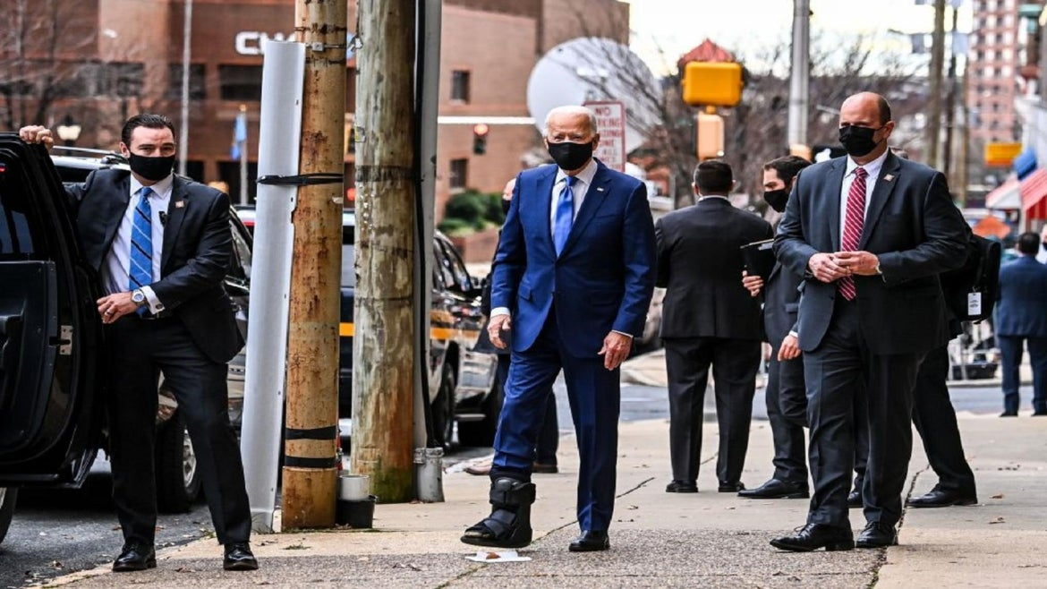 QAnon supporters are now obsessed with Joe Biden's foot.