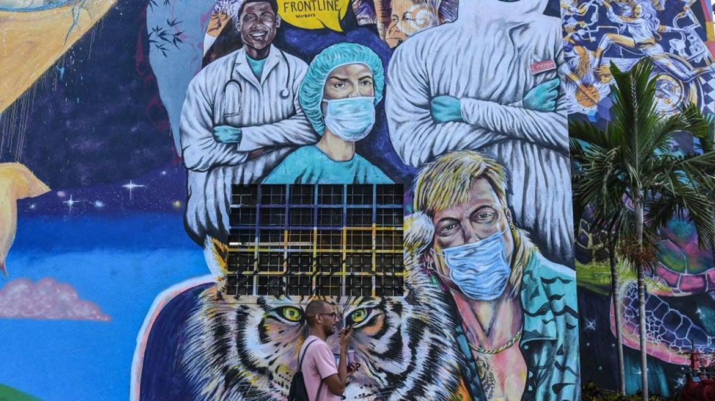 A mural feating Joe Exotic