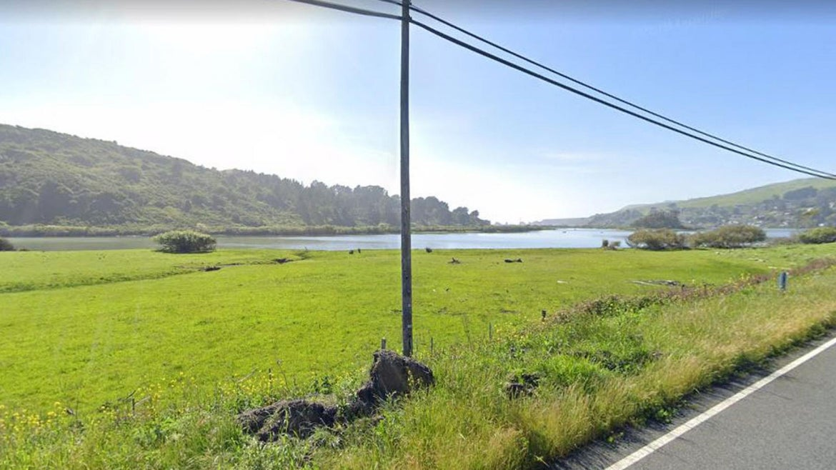 Street view of Blind Beach in Sonoma County