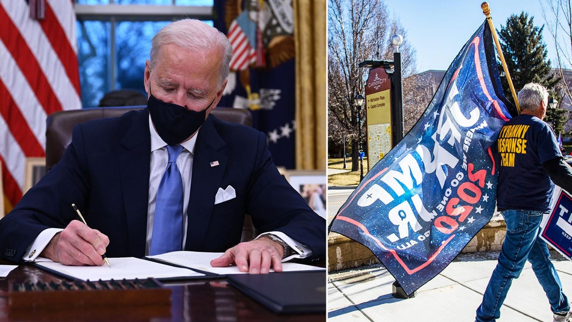 President Joe Biden is sworn in as QAnon followers grapple with what that means to their conspiracy beliefs.